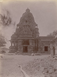 General view of Linga temple of the Chandella period, Bharauli, Jhansi District. 1003731